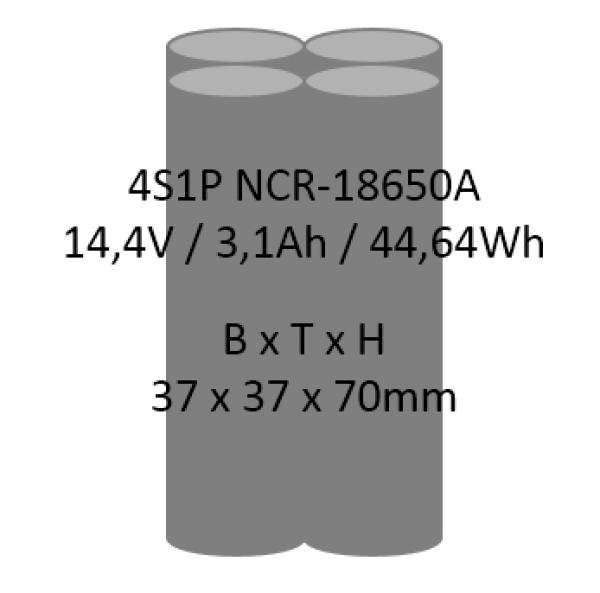 batt energy shop li ion akkupack 4s1p 14 4v 3 1ah 44 64wh ncr 18650a. Black Bedroom Furniture Sets. Home Design Ideas